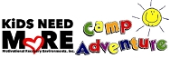 KiDS NEED MoRE Camp Adventure logo
